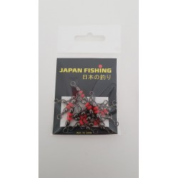 Rolling triple con perla roja Japan Fishing