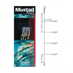 Sabiki Mustad Rigs Fishskin Bi-Color T81